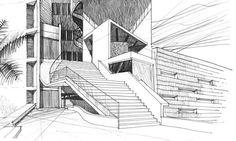 Ejemplo de dibujo de croquis avanzado empleando tridimensionalidad (perspectiva)