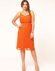 lace overlay dress #plussize  This is plus size? Jesus