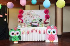 Aria Gabrielle's Owl Party | CatchMyParty.com