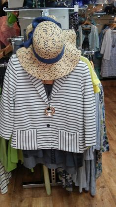 Lightweight striped jacket ideal for cover up moments & chilly evenings