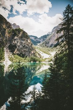 Mountains / lake / nature / forest / wild