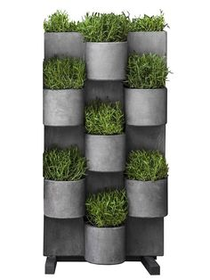 Hang this Campania International Garden Anywhere Hanging Garden System - Set of 4 virtually anywhere in your urban landscape. This hanging garden is. Vertical Garden Systems, Vertical Garden Planters, Planter Pots, Vertical Gardens, Balcony Planters, Wall Planters, Balcony Garden, Organic Gardening, Gardening Tips