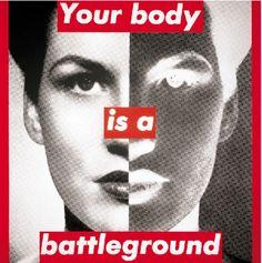 Untitled (your body is a battleground), 1989 by Барбара Крюгер. Концептуализм, Феминистское искусство