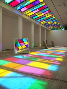Catch as Catch Can by Daniel Buren - Frameweb #color #installation