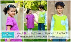 ELEGANCE & ELEPHANTS: RBD Knit Love Blog Tour with free Bubble Sleeve Dr...