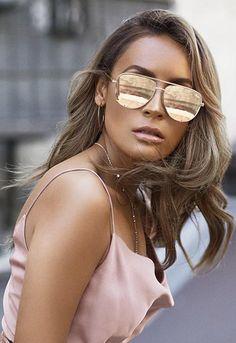 Quay Eyewear x Desi Perkins High Key Mini Sunglasses Festival Sunglasses, Gold Sunglasses, Sunglasses Accessories, Mirrored Sunglasses, Sunglasses Women, Sunnies, Women's Accessories, Quay Eyewear, Sunglasses