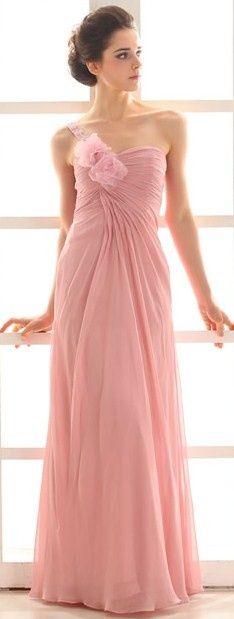 Beautiful chiffon gown. Bridesmaids