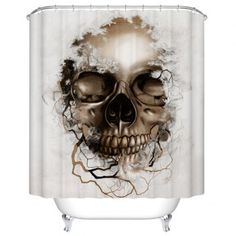 SHARE & Get it FREE | Skull Print Polyester Waterproof Bath Shower CurtainFor Fashion Lovers only:80,000+ Items·FREE SHIPPING Join Dresslily: Get YOUR $50 NOW!
