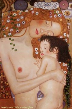 Mother and Child (detail) from the Three Ages of Woman by Gustav Klimt, ca.1905