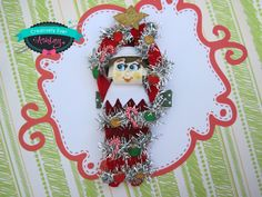 Christmas tree hiding camouflage red elf sculpted hair clip