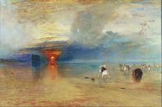 That was two years ago, and for some reason, I missed it ! - Joseph Mallord William Turner, ''La Plage de Calais, à marée basse, des poissardes récoltant des appâts''. Huile sur toile, 1830, 73 x 107 cm.