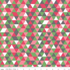 Pink Grey and Green Geometric Triangle Jersey Knit Fabric By The Quilted Firsh for Riley Blake Designs, 1 Yard Chevron, Etsy Fabric, Shops, Triangle Print, Riley Blake, Pink Fabric, Cotton Fabric, Modern Fabric, Applique Designs