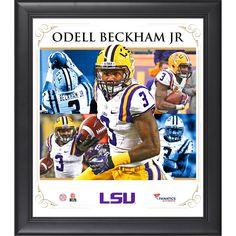 "Odell Beckham Jr. LSU Tigers Fanatics Authentic Framed 15"" x 17"" Core Composite Photograph - $39.99"