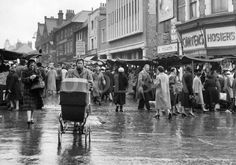 Surrey Street market, Croydon circa 1960 I remember shopping here when i was small with mum