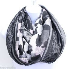 New-With-Flaws-Collection-XIIX-Womens-Mixed-Animal-Stripe-Loop-Scarf-M5003-A