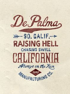 Brush lettering for DePalma Clothing by BMD Design