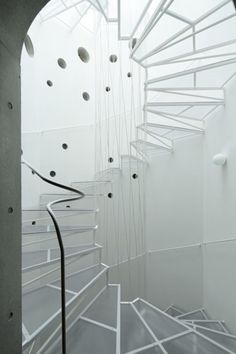 Minami Aoyara M House Stairs designed by Takeshi Hirobe Architects