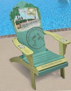 "Margaritaville Painted ""Back to the Beach"" Adirondack Chair"