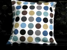 blue dot cushion cover from EllieBdesigns (etsy)