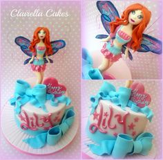 Winx Bloom Fairy Cake - hand crafted from sugar by Clairella Cakes