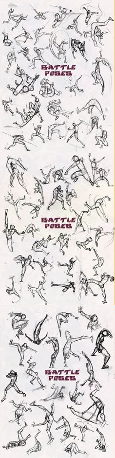 Manga Drawing Tips Battle Poses, text, positions; How to Draw Manga/Anime Figure Drawing Reference, Art Reference Poses, Anatomy Reference, Design Reference, Gesture Drawing, Drawing Poses, Drawing Tips, Drawing Tutorials, Drawing Ideas