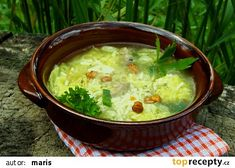 Kapustová polévka s rýží a houbami recept - TopRecepty.cz Cheeseburger Chowder, Ethnic Recipes