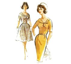 Dress Pattern with Full Skirt or Slim Skirt McCalls 6626 Sz. 40 Plus Size Nightgown Pattern, Gored Skirt, Anti Fashion, Full Skirts, Hippie Outfits, Fitted Bodice, Hippie Style, Dress Patterns, Vintage Fashion