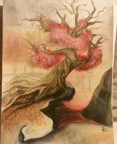 Tohle bylo náročný... #tree #art #painting #drawing #aquarelle #watercolor #abstraction #artist #artwork #talentedpeopleinc #tattoodesign #tattoo #design #tattooartist #work #project #old #nature #RachelArt #beauty #markers #forest #original #sketching #color #colortattoo #pallete #brush by rachel.grosova