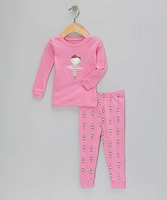 Pink Ballerina Pajama Set