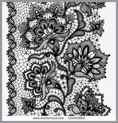 Abstract Lace Ribbon Vertical Seamless Pattern Template frame design for card Lace Doily Can be used for packaging, invitations, and template