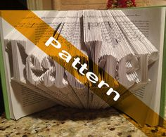Pattern to fold TEACHER into a book including by Bookfolding