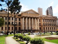 Federal University of Parana in Curitiba city