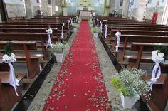 decoração de casamento igreja simples e barata roxo - Pesquisa Google