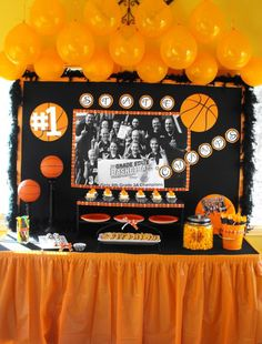 New Basket Ball Decorations Banquet Ideas Basketball Playoffs, Basketball Cheers, Basketball Party, Basketball Gifts, Sports Basketball, Banquet Centerpieces, Banquet Decorations, Banquet Ideas, Basketball Baby Shower