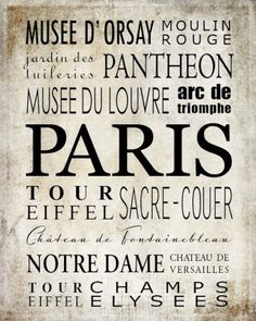 Où y aller à Paris!!!