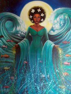 Black Love Art, Black Girl Art, Art Girl, Fantasy Mermaids, Mermaids And Mermen, Black Mermaid, Mermaid Art, African American Art, African Art