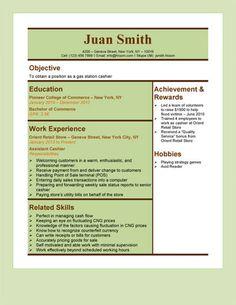 Gas Station Cashier Resume Template Resume Pdf Sample Resume Resume Templates