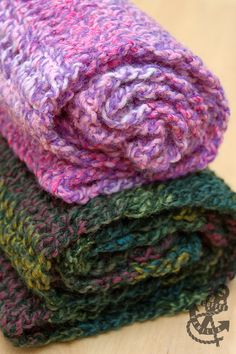 Extremely Fast & Easy Marble Yarn Crochet Scarves - Handmade Gift Idea