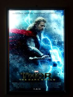 Movie Poster Led Light box Display Frame Cinema  Light Up Home Theater Sign!