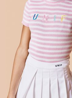 Unif Lenny Top in pink - size S - $58.00
