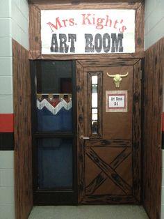 Cowboy/Western theme classroom.