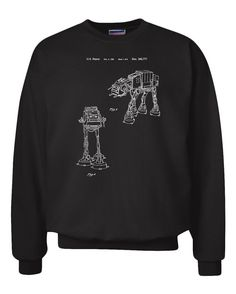 Star Wars AT-AT Walker Patent Crewneck Sweatshirt  GARMENT DETAILS:  -10-ounce, 90/10 cotton/poly PrintPro ® XP low pill, high stitch density fabric