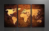 Leinwand Bild fert gerahmt Bilder Weltkarte 160x90cm Marke Visario XXL 3 1162