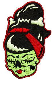 Sourpuss Shrinky Dink Zombie Shrunken Head Patch Iron on Patches Punk Rockabilly | eBay