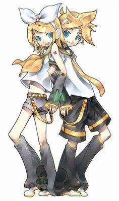 Rin and Len Kagamine. :)