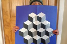 Tumbling Blocks Tape Art - DIY