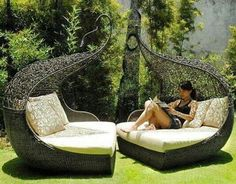 Backyard reading seat