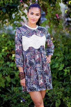 465bc7e89661b1 Bohemian Free-Spirited Print Swing Dress - Pineapple Collective