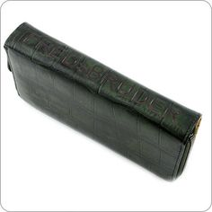 FREDsBRUDER Portemonnaie - Croco Wallet Big - Dark Green