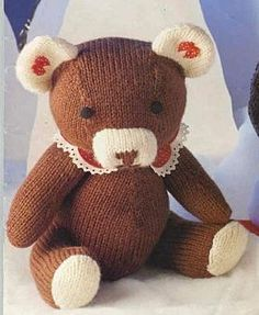 You can access more content by visiting the site. patron gratuit ours tricot - Knitting Bear, Knitted Teddy Bear, Crochet Teddy, Free Knitting Patterns Uk, Teddy Bear Patterns Free, Knitted Dolls, Crochet Dolls, Sewing Online, Knitted Animals